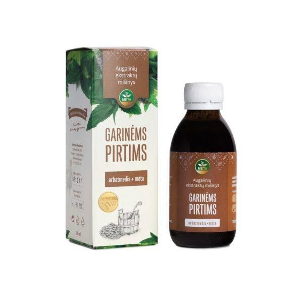 Augalinių ekstraktų mišinys GARINĖMS PIRTIMS arbatmedis+mėta