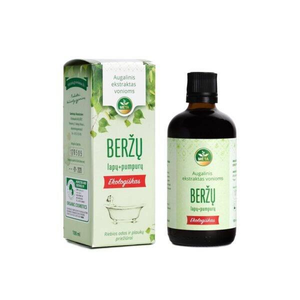 Augalinis ekstraktas vonioms BERŽŲ lapų + pumpurų ekologiškas
