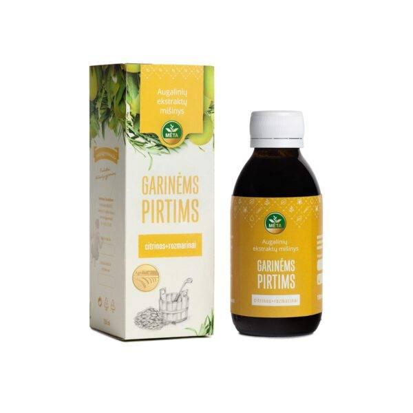 Augalinių ekstraktų mišinys GARINĖMS PIRTIMS citrinos+rozmarinai