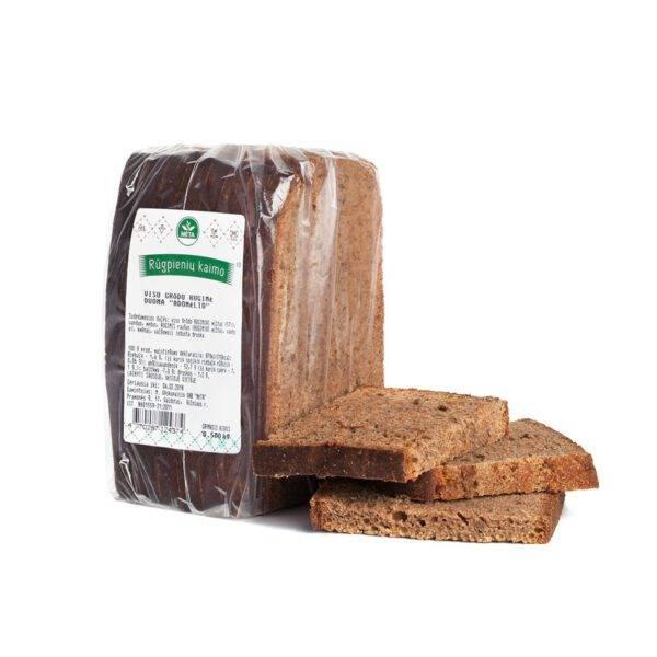Viso grūdo ruginė duona